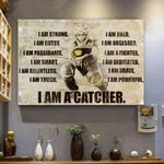 Softball Canvas Prints Wall Art - I Am A Catcher - Matte Canvas