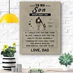 To My Son Canvas Print Wall Art - Gift For Son - Matte Canvas #37679