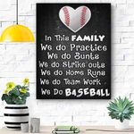 Custom Canvas We Do Baseball Canvas Print Wall Art - Matte Canvas