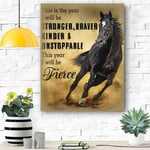 Horse Canvas Print Wall Art - Matte Canvas #55254