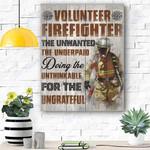 Volunteer Firefighter Canvas Print Wall Art - Matte Canvas