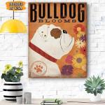 Bulldog Bloooms Canvas Prints Wall Art - Matte Canvas
