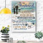 Custom Printing To My Husband Canvas Print Wall Art - Matte Canvas