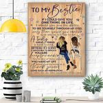 To my Besties Canvas Print Wall Art - Gift For Besties - Matte Canvas