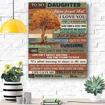 Custom Printing To My Daughter Canvas Print Wall Art - Matte Canvas