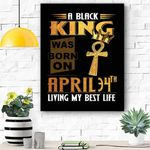 April 34th Living My Best Life Canvas Print Wall Art - Matte Canvas