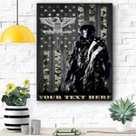 Custom Canvas Soldier U.S. Air Force Ranks Personalized Canvas - Matte Canvas