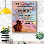 To My Daughter Canvas Print Wall Art - Gift For Daughter - Matte Canvas #20233