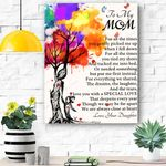 To My Mom Canvas Print Wall Art - Gift For Mom - Matte Canvas