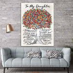 To My Daughter Canvas Print Wall Art - Gift For Daughter - Matte Canvas #23761