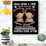 Once Upon A Time Elephant Canvas Prints Wall Art - Matte Canvas