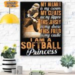 Softball Princess Canvas Prints Wall Art - Matte Canvas