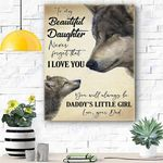 Wolf Canvas Prints Wall Art - Perfect Gift For Daughter - Matte Canvas