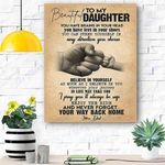To My Daughter Canvas Print Wall Art - Gift For Daughter - Matte Canvas #67539