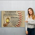 Baseball Canvas Prints Wall Art - Perfect Gift For Granddaughter - Matte Canvas