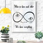 Custom Canvas Mr And Mrs Personalized Canvas Print Wall Art - Matte Canvas #32377
