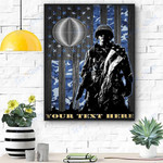 Custom Canvas Soldier U.S. Navy Rate Personalized Canvas - Matte Canvas