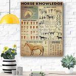 Horse Knowledge Canvas Print Wall Art - Matte Canvas
