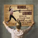 Custom Photo Baseball Personalised Canvas Prints Wall Art  - Matte Canvas