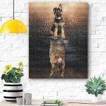 German Shepherd Dog Canvas Prints Wall Art - Matte Canvas #99816