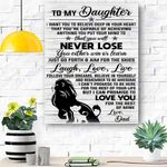 To My Daughter Lion Canvas Print Wall Art - Gift For Daughter - Matte Canvas #16031