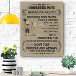 To My Gorgeous Wife Canvas Print Wall Art - Gift For Wife - Matte Canvas