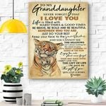 To My Granddaughter Canvas Prints Wall Art - Matte Canvas #32843