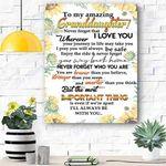 Custom Printing To My Amazing Granddaughter Sunflower Canvas Print Wall Art - Matte Canvas