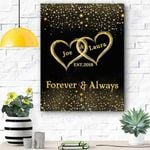 Custom Canvas Mr And Mrs Personalized Canvas With Name And Wedding Year - Matte Canvas
