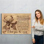 Reindeer Canvas Print Wall Art - Gift For Wife - Matte Canvas