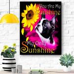 Boston Terrier My Sunshine Canvas Print Wall Art - Matte Canvas