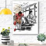 Football Canvas Prints Wall Art - Matte Canvas #78834