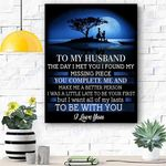 To My Son Husband Canvas Prints Wall Art - Perfect Gift For Husband - Matte Canvas