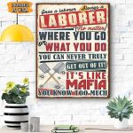 Laborer Canvas Prints Wall Art - Matte Canvas
