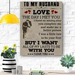 To My Husband Canvas Print Wall Art - Gift For Husband - Matte Canvas #72290