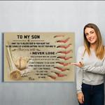 baseball - Mom - Matte Canvas