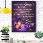 Butterfly When You Believe Canvas Print Wall Art - Matte Canvas