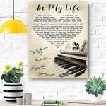 Custom Canvas In My Life The Beatles Canvas Print Wall Art - Matte Canvas