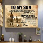 Soccer Canvas Prints Wall Art - Perfect Gift For Son - Matte Canvas