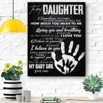 To My Daughter Canvas Print Wall Art - Gift For Daughter - Matte Canvas #18014