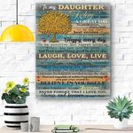 To My Daughter Canvas Print Wall Art - Gift For Daughter - Matte Canvas #10247