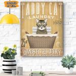 Tabby Cat Laundry Canvas Prints Wall Art - Matte Canvas #73158