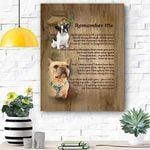 Frienchie Remember Me Canvas Print Wall Art - Matte Canvas