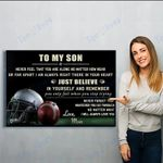 To My Son Football Canvas Prints Wall Art - Perfect Gift For Son - Matte Canvas
