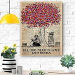 Book All You Need Is Love Canvas Print Wall Art - Matte Canvas