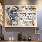 Boxer Dog Canvas - God Once Said - Matte Canvas