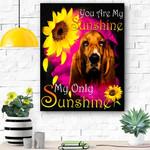 Basset Hound Face My Sunshine Canvas Print Wall Art - Matte Canvas