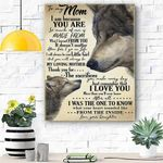 Wolf Canvas Prints Wall Art - Perfect Gift For Mom - Matte Canvas #46246