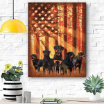 Rottweiler Dog Canvas Prints Wall Art - Matte Canvas
