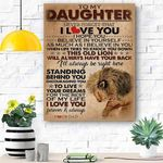 To My Daughter Lion Canvas Print Wall Art - Gift For Daughter - Matte Canvas #34639